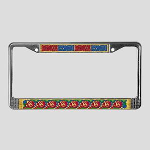 Celtic Knotwork/Spiral License Plate Frame