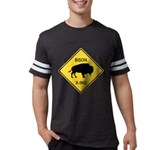 crossing-sign-bison Mens Football Shirt
