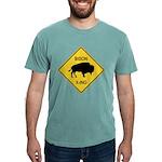 crossing-sign-bison Mens Comfort Colors Shirt