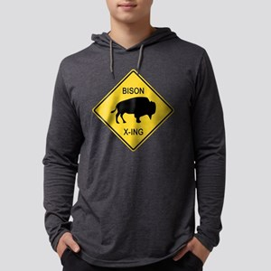 crossing-sign-bison Mens Hooded Shirt