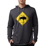 crossing-sign-bison Mens Hooded Shirt