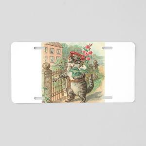 postal kitty Aluminum License Plate