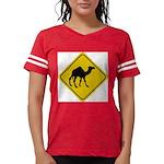 Camel Crossing Sign Womens Football Shirt