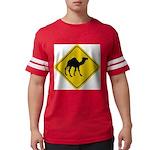 Camel Crossing Sign Mens Football Shirt