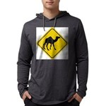 Camel Crossing Sign Mens Hooded Shirt