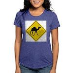Camel Crossing Sign Womens Tri-blend T-Shirt