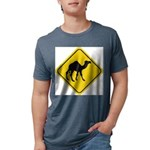 Camel Crossing Sign Mens Tri-blend T-Shirt