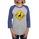 crossing-sign-giraffe Womens Baseball Tee