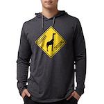 crossing-sign-giraffe Mens Hooded Shirt