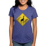 crossing-sign-giraffe Womens Tri-blend T-Shirt