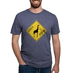 crossing-sign-giraffe Mens Tri-blend T-Shirt