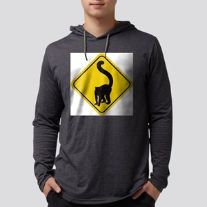 lemur-crossing-sig.... Mens Hooded Shirt
