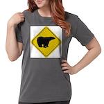 bear-crossing-sign-... Womens Comfort Colors Shirt