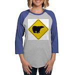 bear-crossing-sign-... Womens Baseball Tee