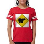 bear-crossing-sign-... Womens Football Shirt