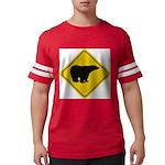bear-crossing-sign-... Mens Football Shirt