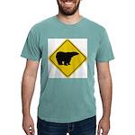 bear-crossing-sign-... Mens Comfort Colors Shirt
