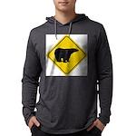 bear-crossing-sign-... Mens Hooded Shirt