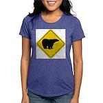 bear-crossing-sign-... Womens Tri-blend T-Shirt