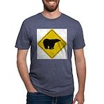 bear-crossing-sign-... Mens Tri-blend T-Shirt
