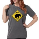 Rhino Crossing Sign Womens Comfort Colors Shirt