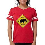 Rhino Crossing Sign Womens Football Shirt