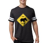 Rhino Crossing Sign Mens Football Shirt