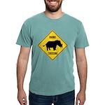 Rhino Crossing Sign Mens Comfort Colors Shirt