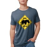 Rhino Crossing Sign Mens Tri-blend T-Shirt