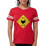 Turkey Crossing Sign Womens Football Shirt