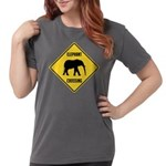 elephant-crossing-sign Womens Comfort Colors S