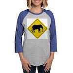 elephant-crossing-sign Womens Baseball Tee
