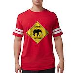 elephant-crossing-sign Mens Football Shirt