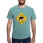 elephant-crossing-sign Mens Comfort Colors Shi