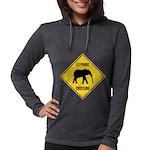 elephant-crossing-sign Womens Hooded Shirt