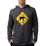 elephant-crossing-sign Mens Hooded Shirt