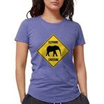 elephant-crossing-sign Womens Tri-blend T-Shir