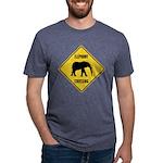 elephant-crossing-sign Mens Tri-blend T-Shirt