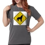 wolf-crossing-sign.... Womens Comfort Colors Shirt