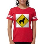 wolf-crossing-sign.... Womens Football Shirt