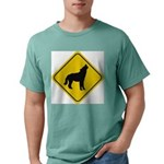 wolf-crossing-sign.... Mens Comfort Colors Shirt