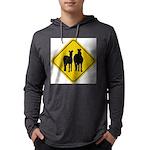 zebra-crossing-sign... Mens Hooded Shirt