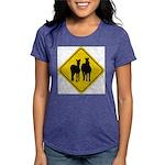 zebra-crossing-sign... Womens Tri-blend T-Shirt