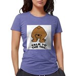 talk-tail-bear-2 Womens Tri-blend T-Shirt