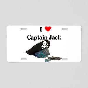 I heart captain jack Aluminum License Plate