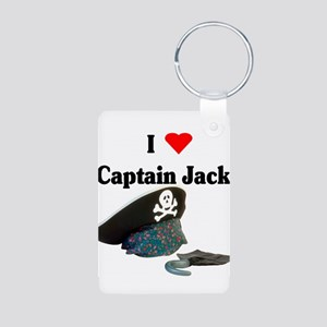 I heart captain jack Aluminum Photo Keychain