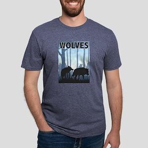 Graphic Wolves Mens Tri-blend T-Shirt