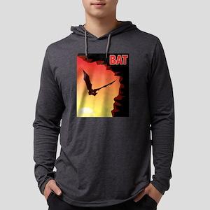 bat-CROP-text Mens Hooded Shirt