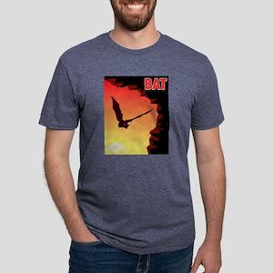 bat-CROP-text Mens Tri-blend T-Shirt
