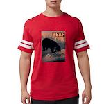 bear-CROP-text Mens Football Shirt